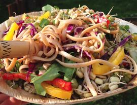 Colorful Spring Linguine Salad