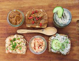 3 Bread Spreads from Savory to Sweet